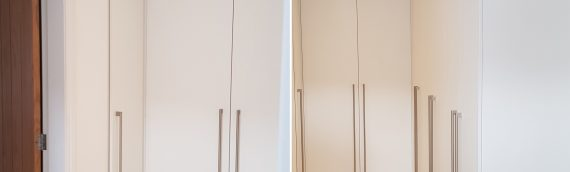 Modern White Slab Wardrobes